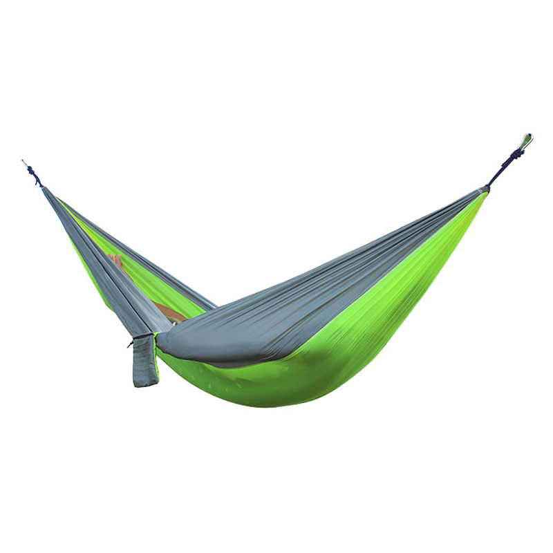 2 People Portable Parachute Hammock for outdoor CampingFruit green with gray edges 270 140 cm - Гаджеты
